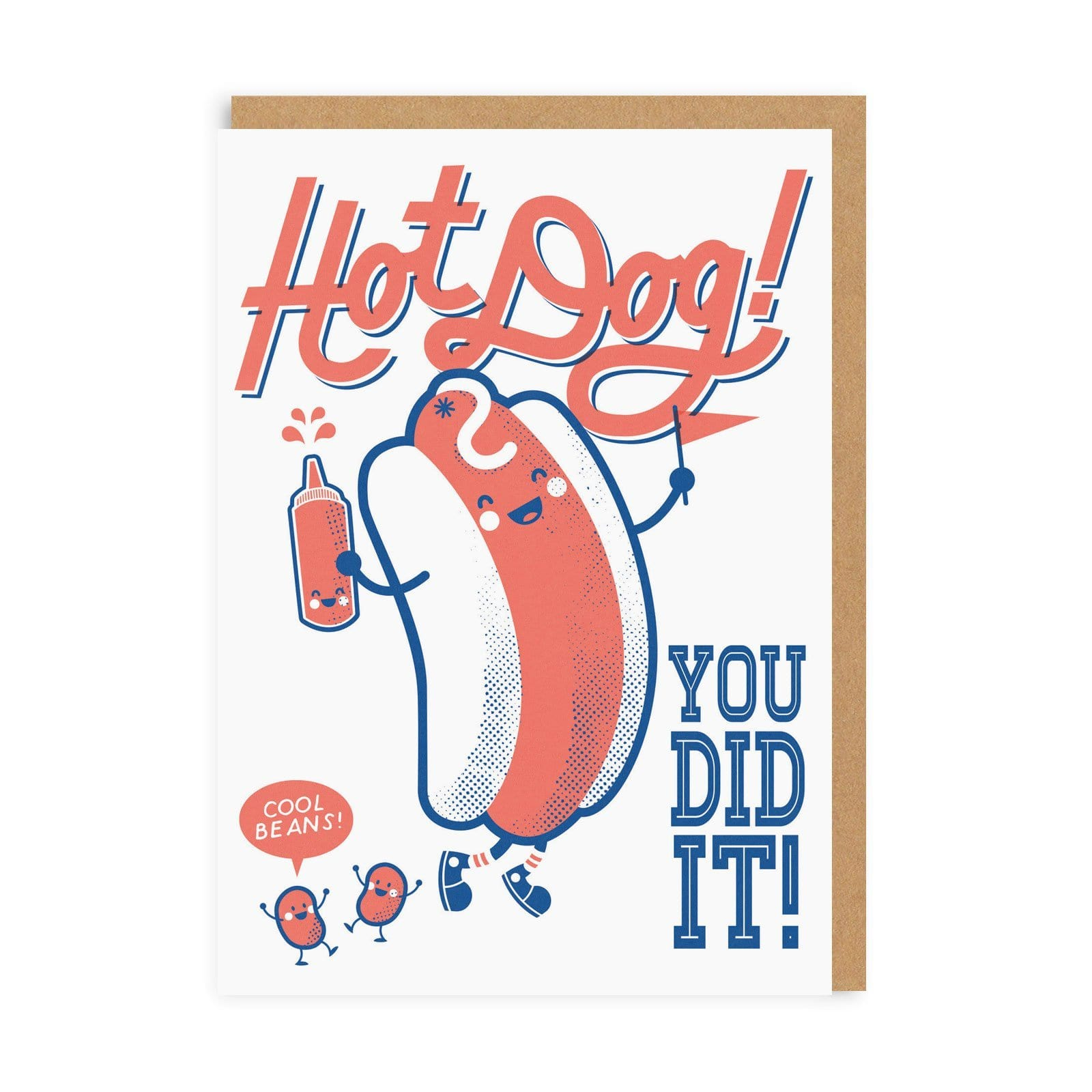 Hot Dog! You Did It! Greeting Card