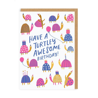 Turtley Awesome Birthday Greeting Card