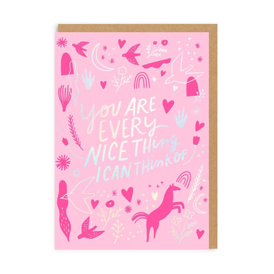 Every Nice Thing Greeting Card