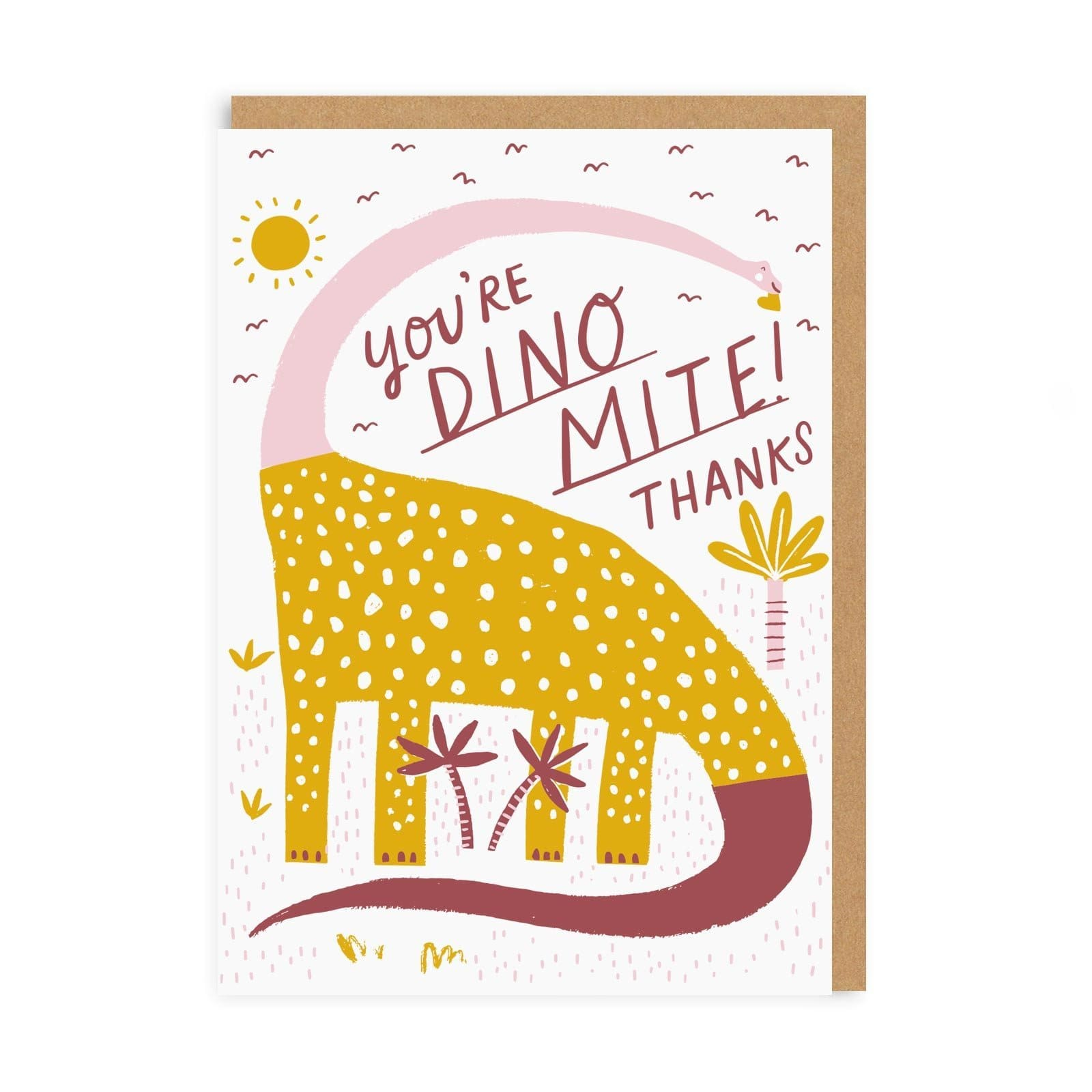 Dino-Mite Thank you Greeting Card