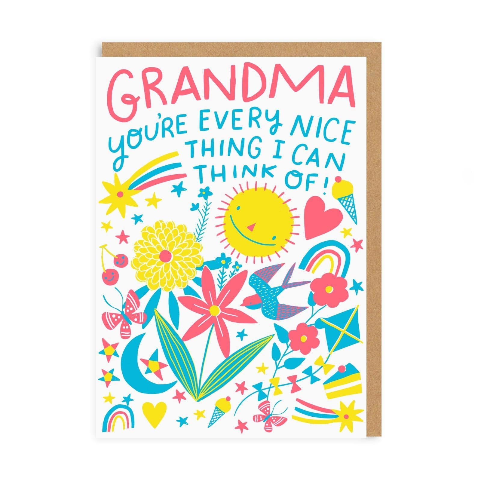 Grandma Nice Thing Greeting Card