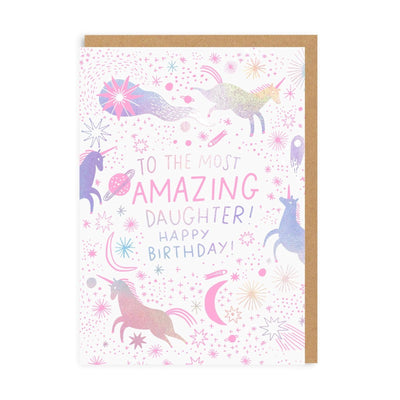 Most Amazing Daughter Birthday Greeting Card
