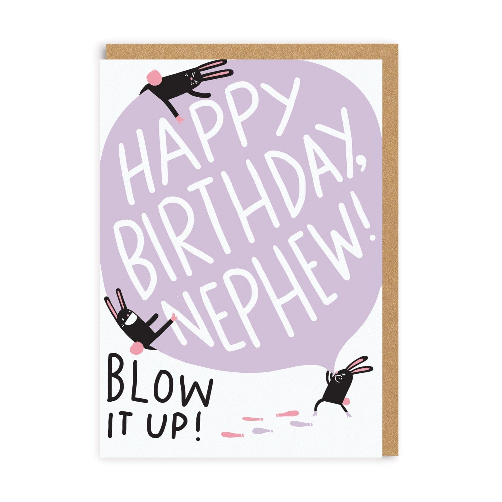 Nephew Blow It Up Birthday Greeting Card