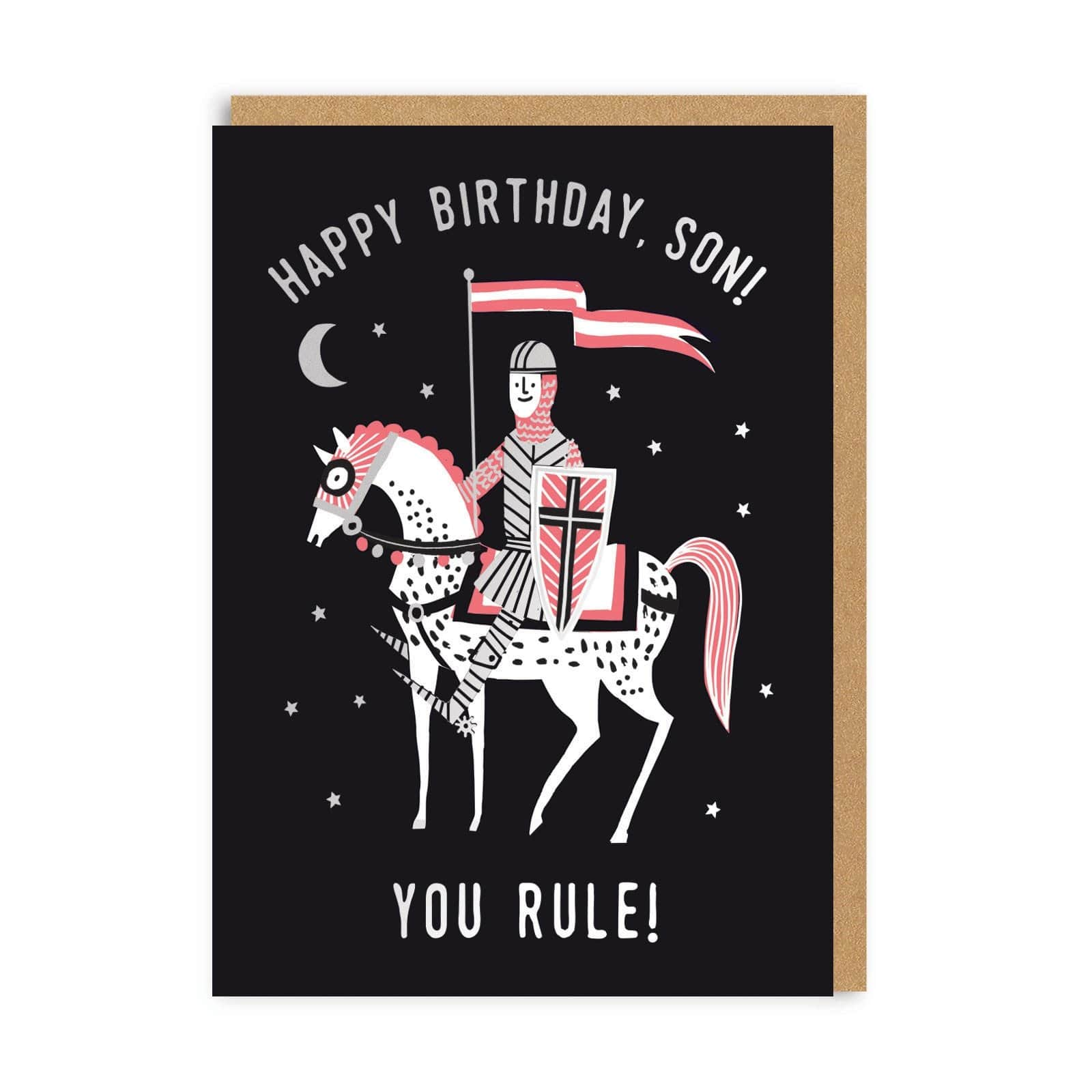 Son You Rule! Happy Birthday Greeting Card