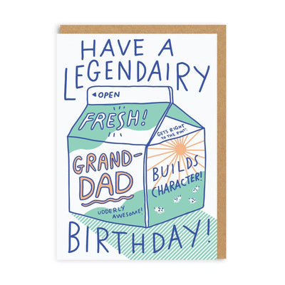 Legendairy Birthday Grandad Greeting Card