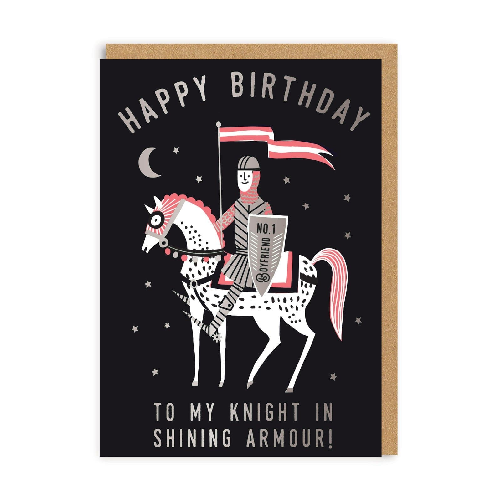 Boyfriend Knight Birthday Greeting Card