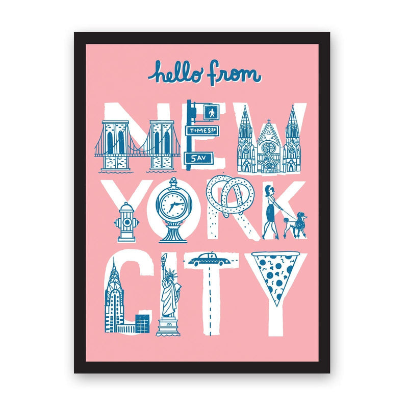 A3 Hello From New York City Riso Print