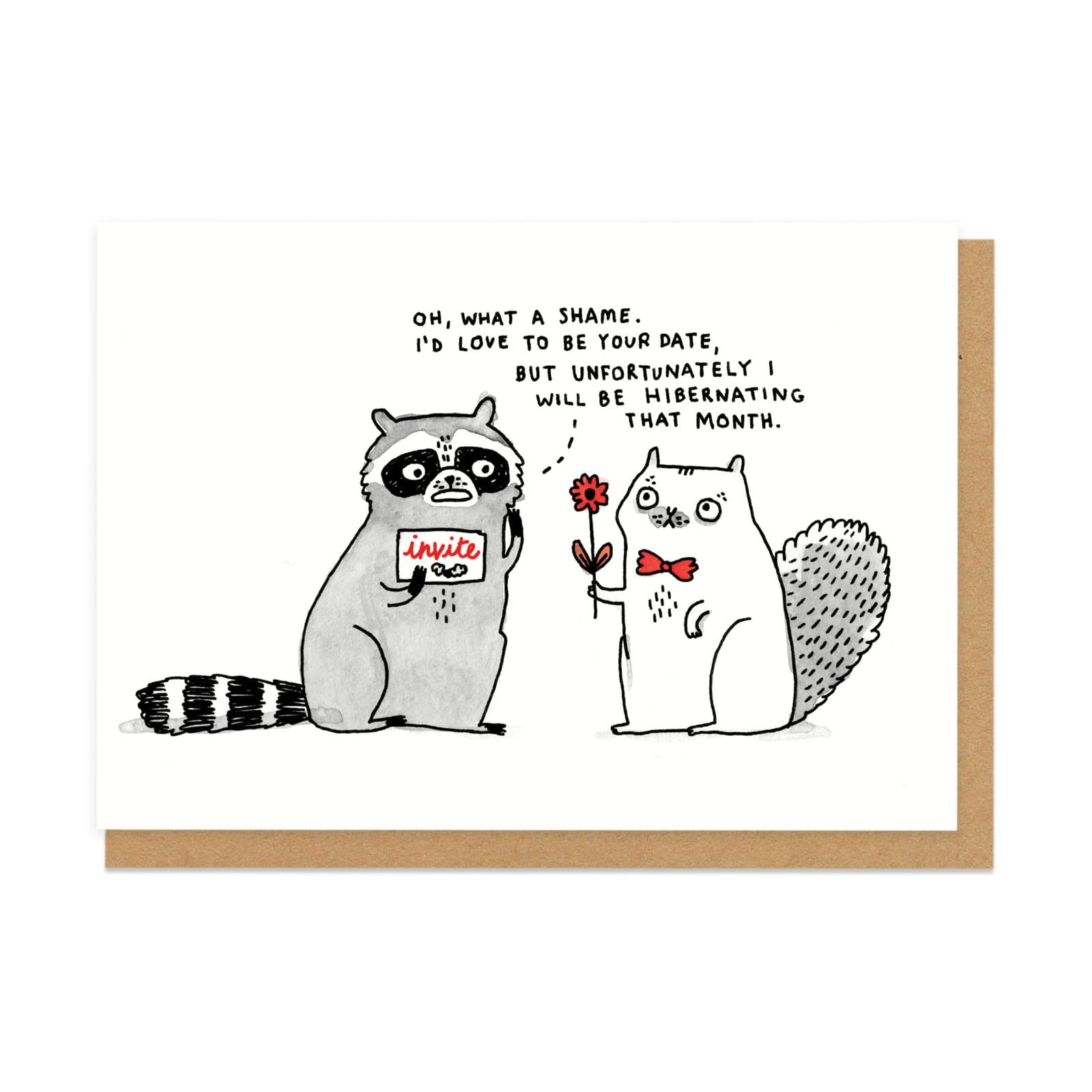 Hibernating Greeting Card