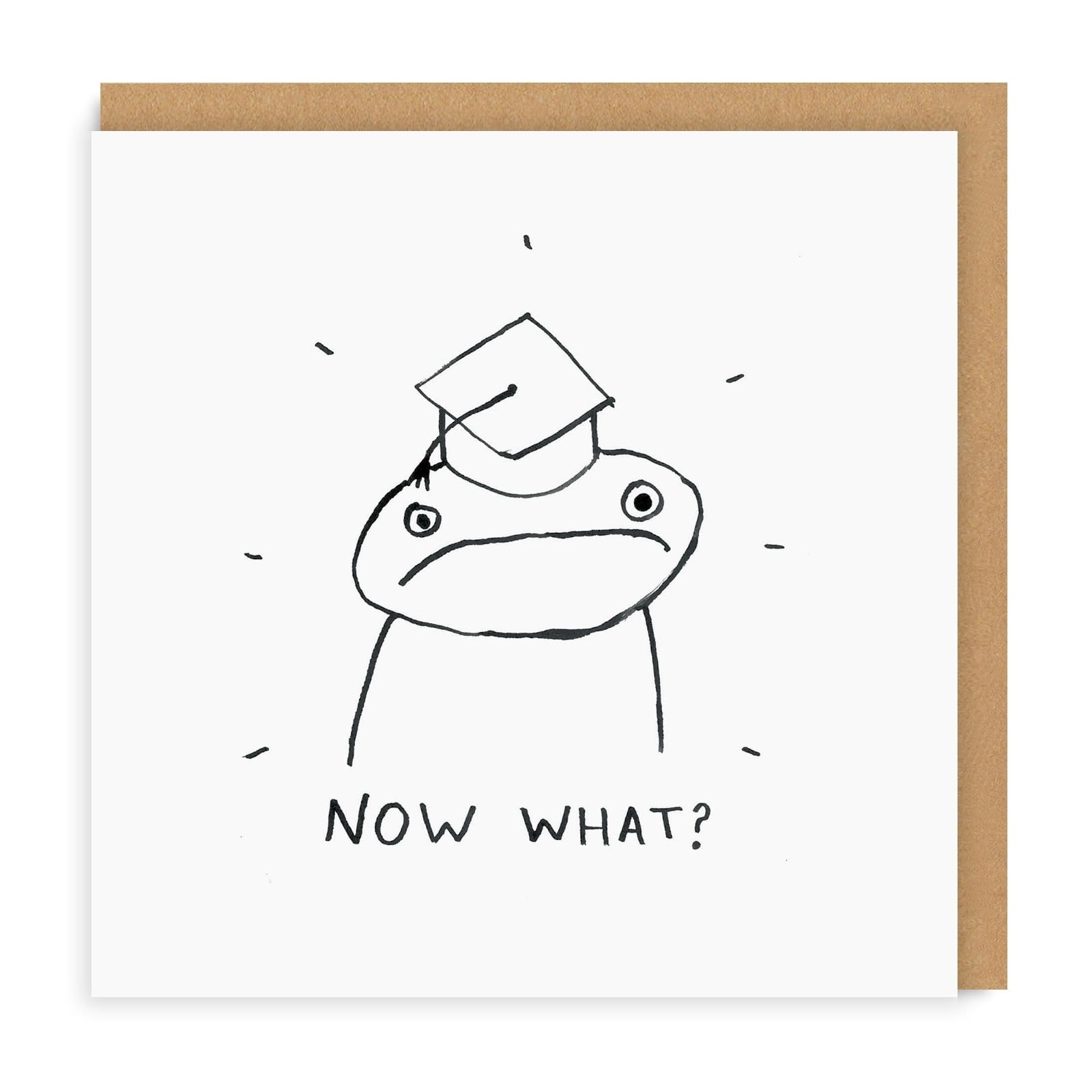Now What? Square Greeting Card