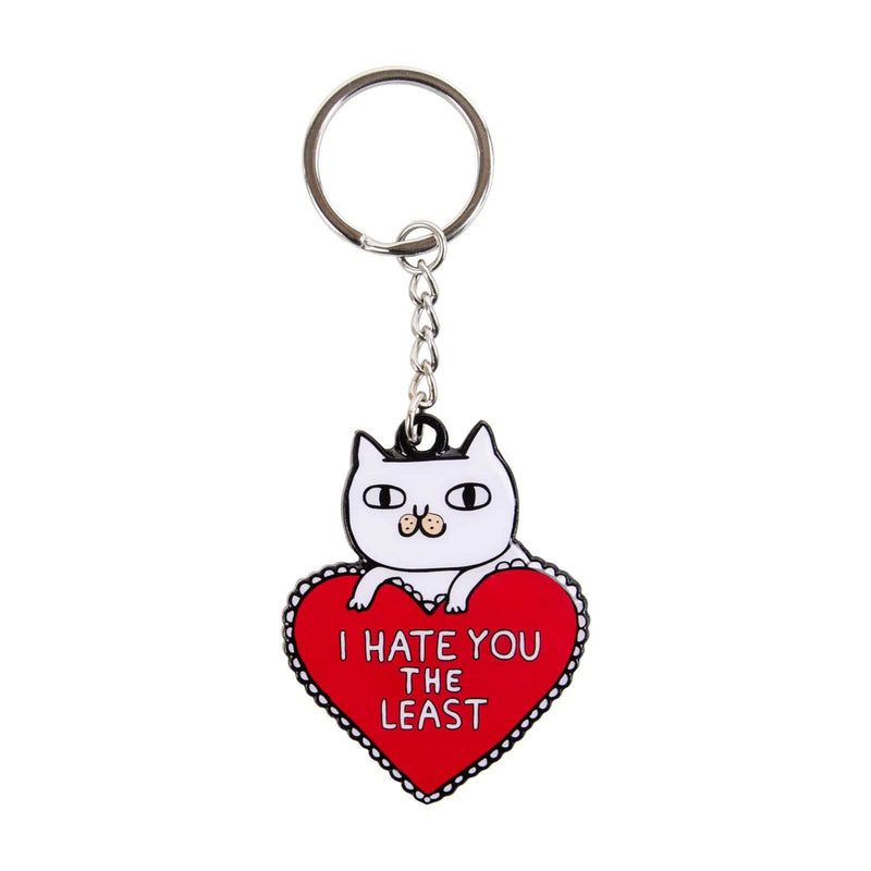 I Hate You The Least Cat Keyring