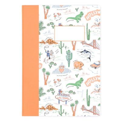Road Trip A4 Faux Quarterbound Notebook