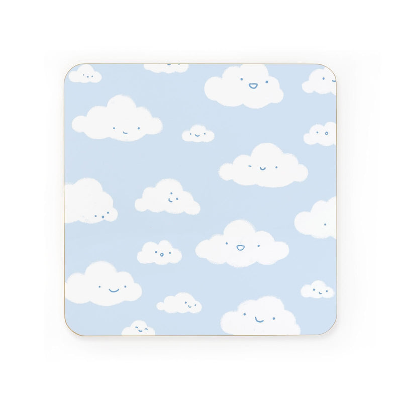 Happy Little Clouds Coaster