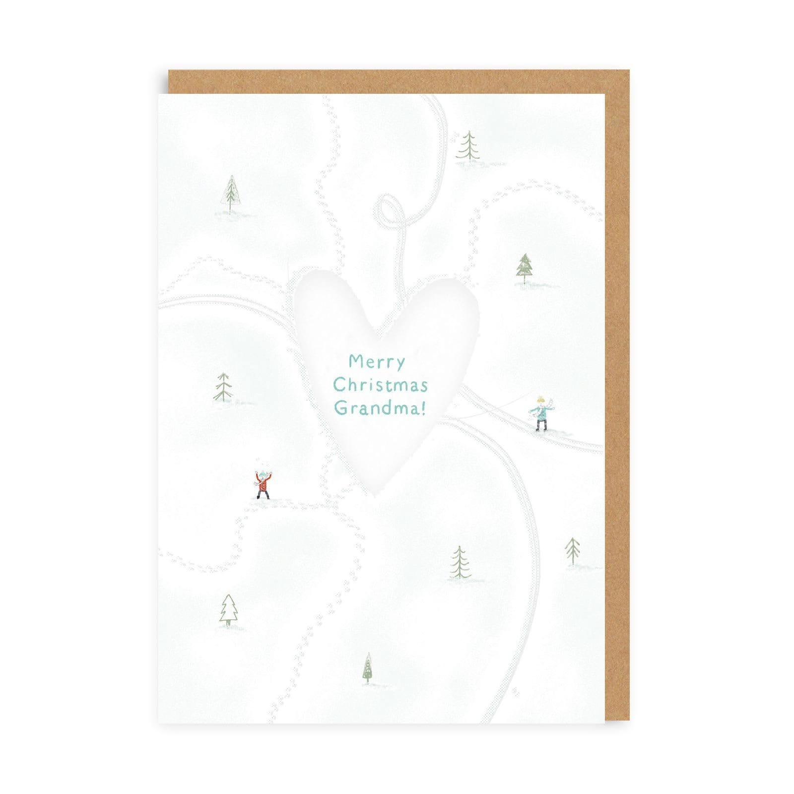 Grandma Love Heart Christmas Greeting Card