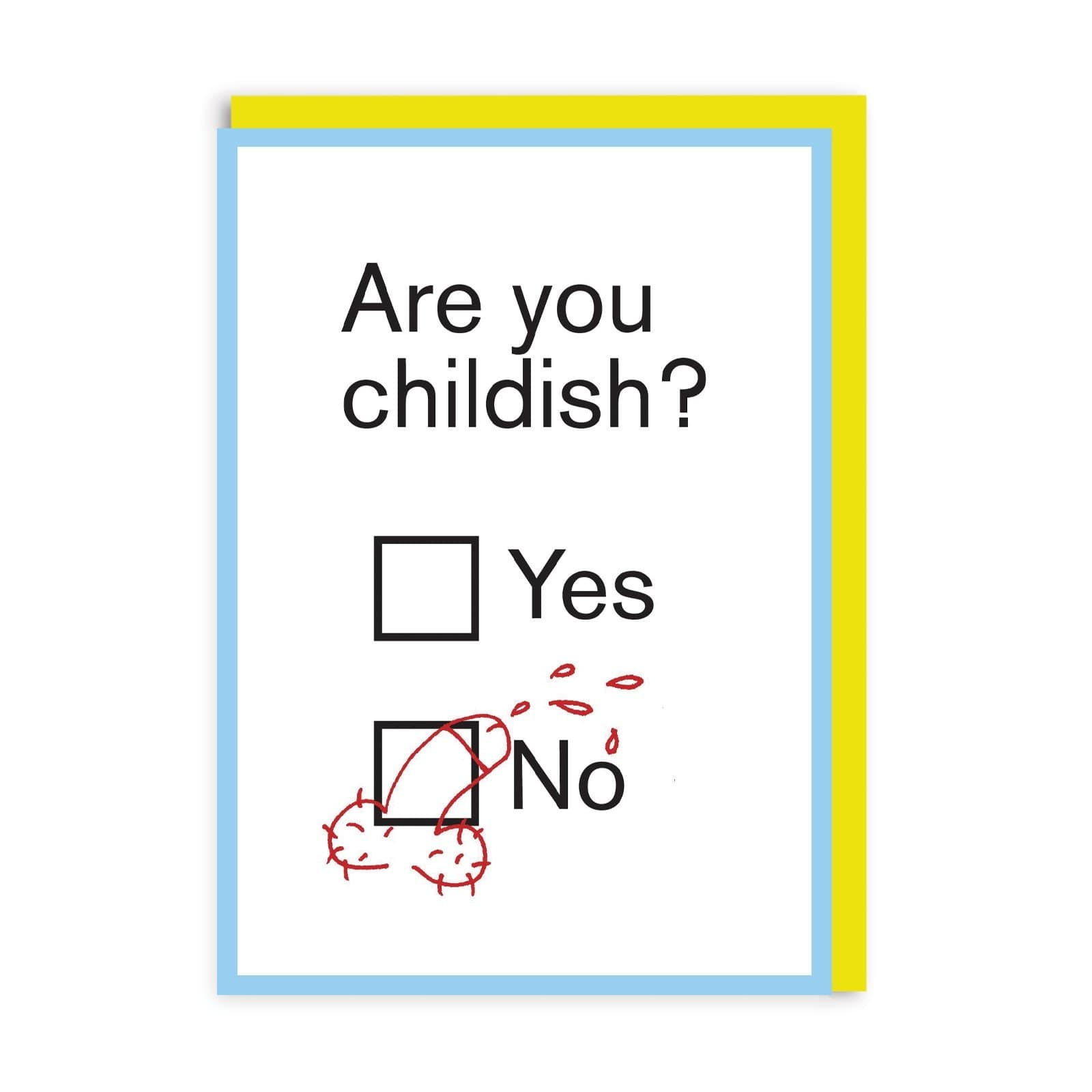 Childish Greeting Card