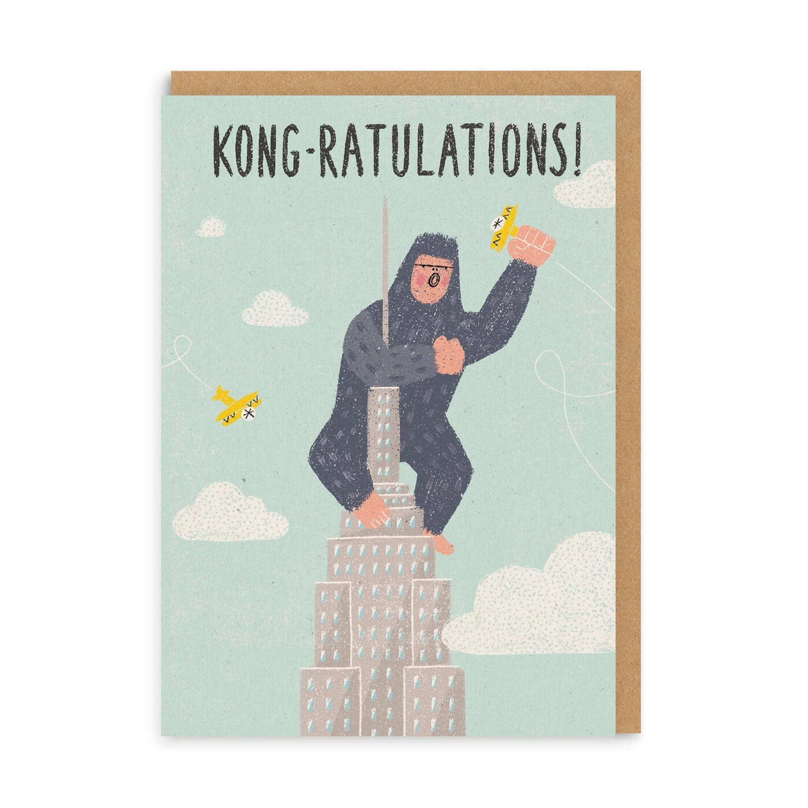 Kong-ratulations Congratulations Greeting Card
