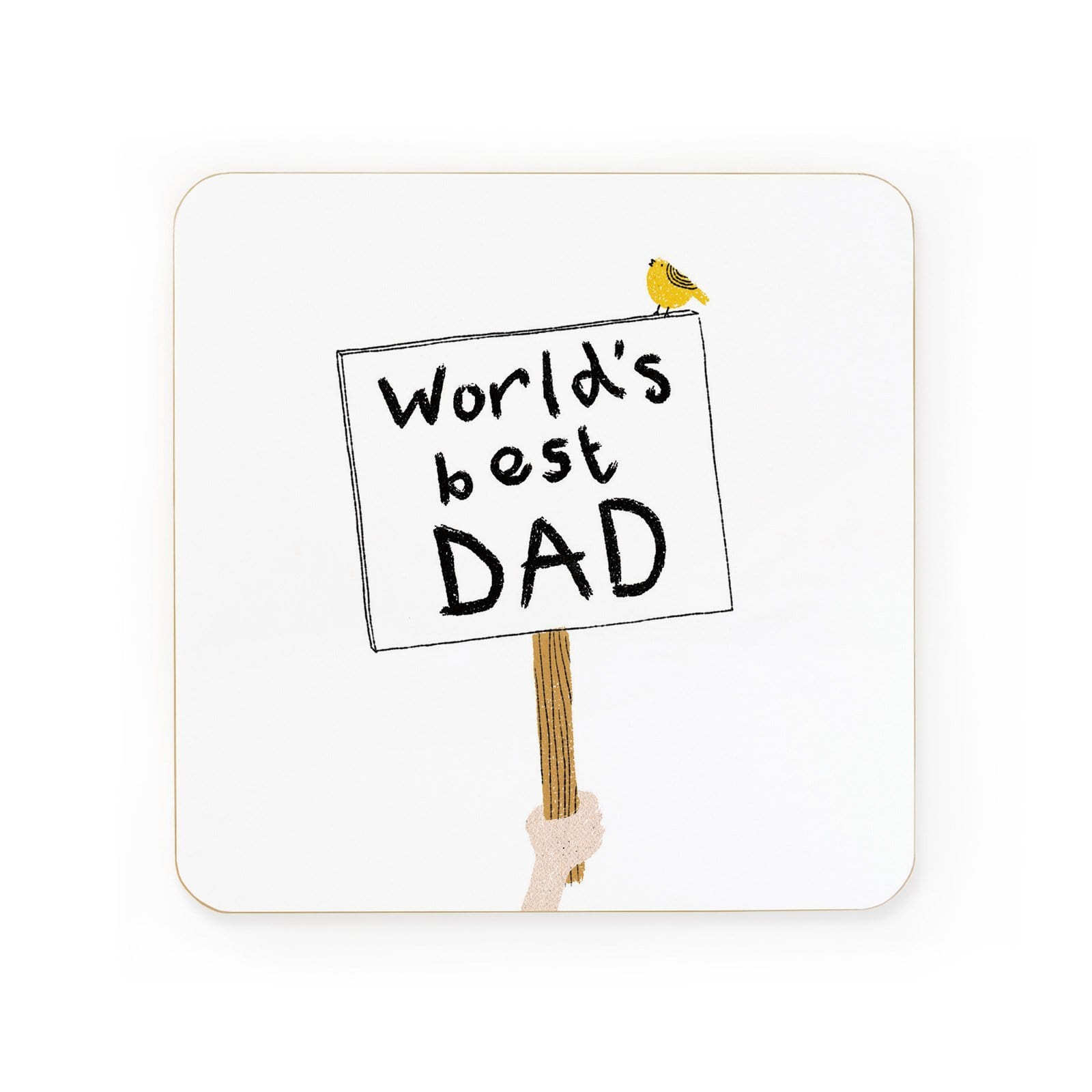 World's Best Dad Sign Coaster