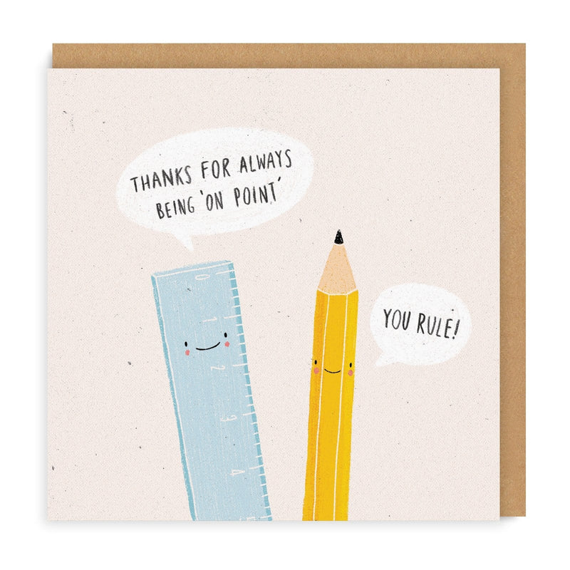 You Rule Pencil Greeting Card