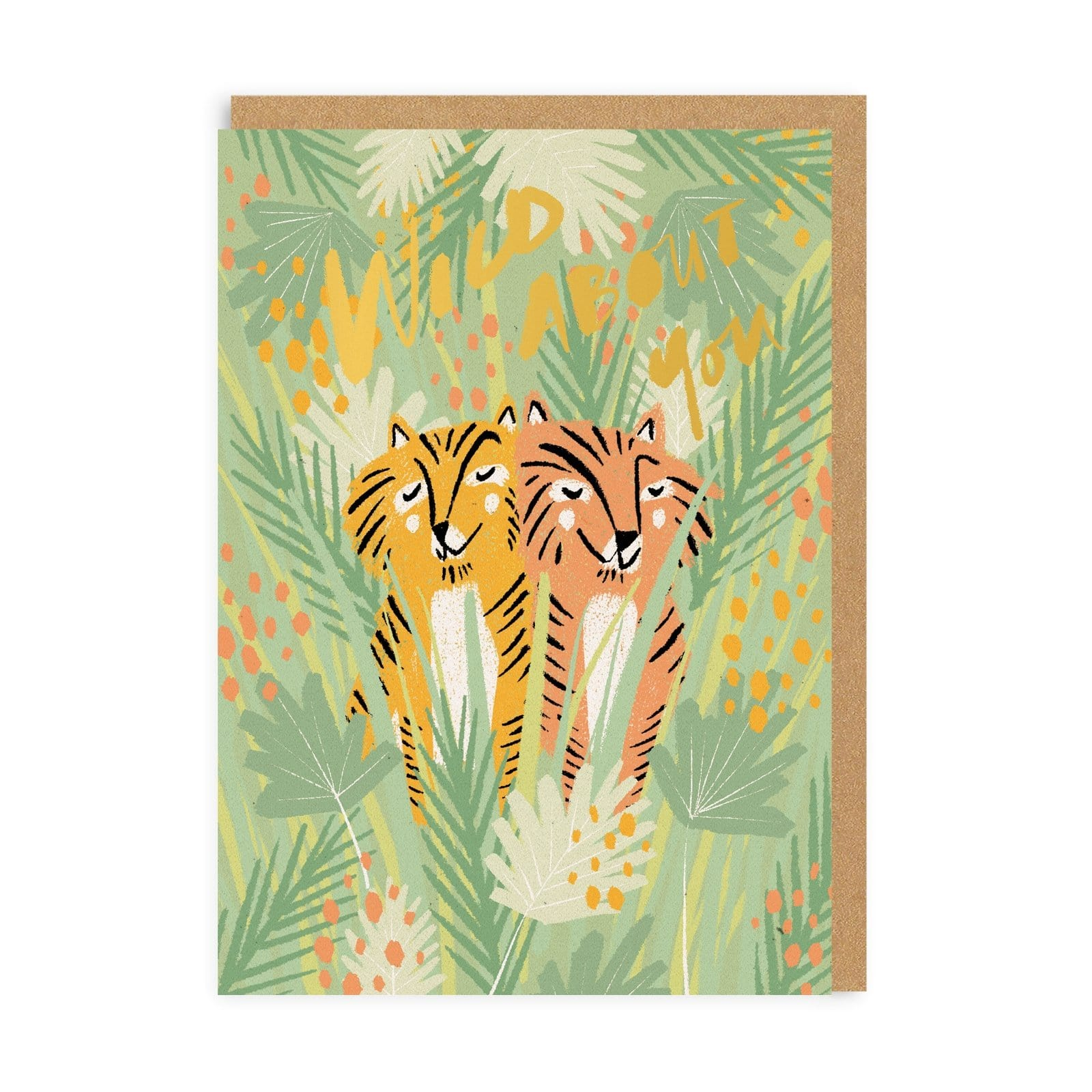 Wild About You Tigers Greeting Card