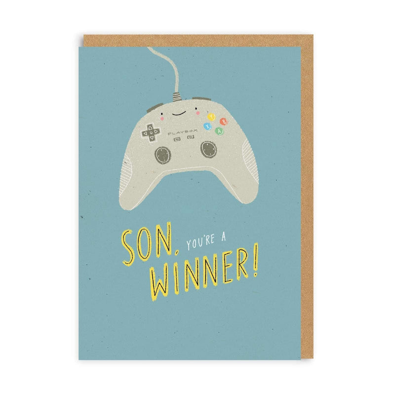 Son You're A Winner Greeting Card