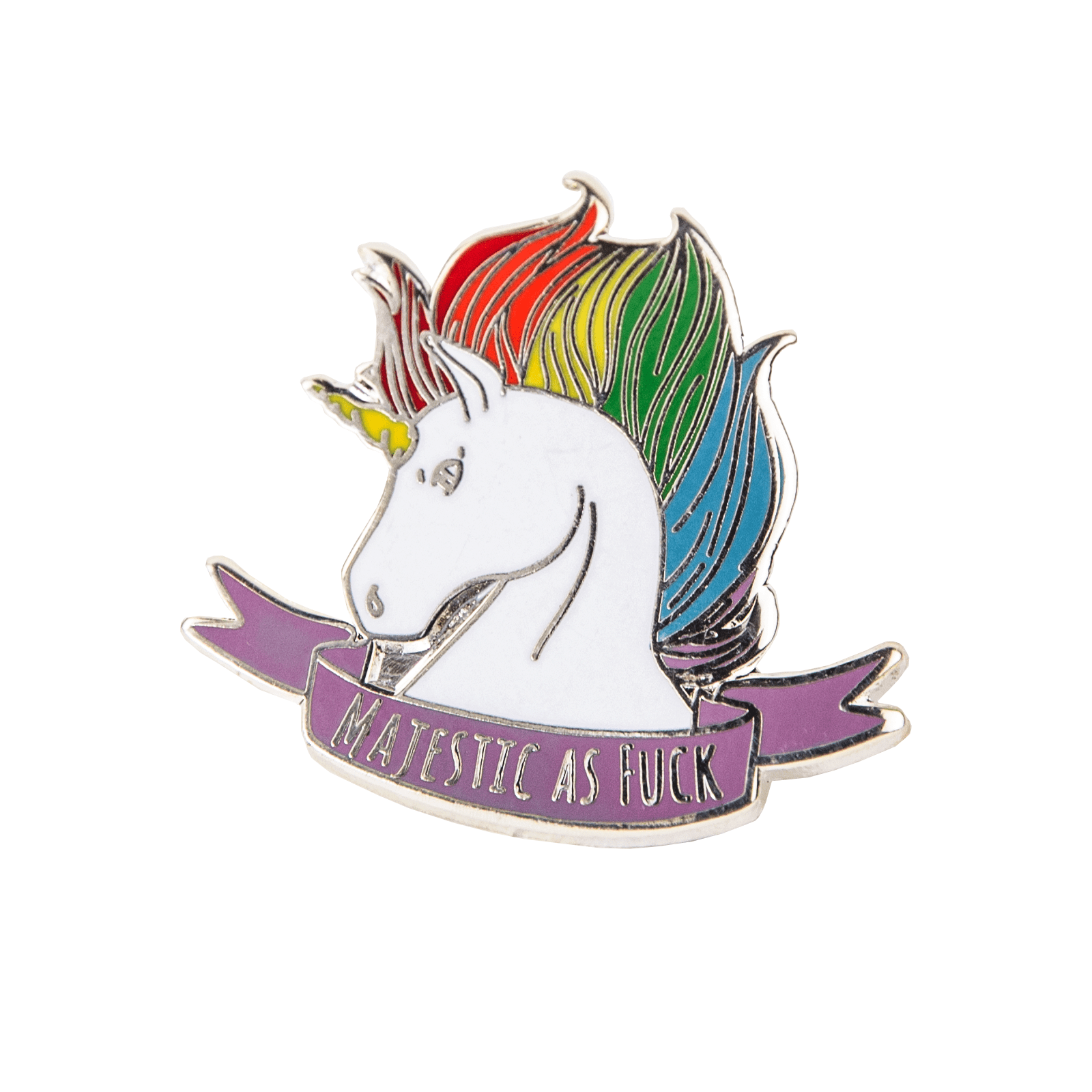 Majestic as Fuck Unicorn Pin