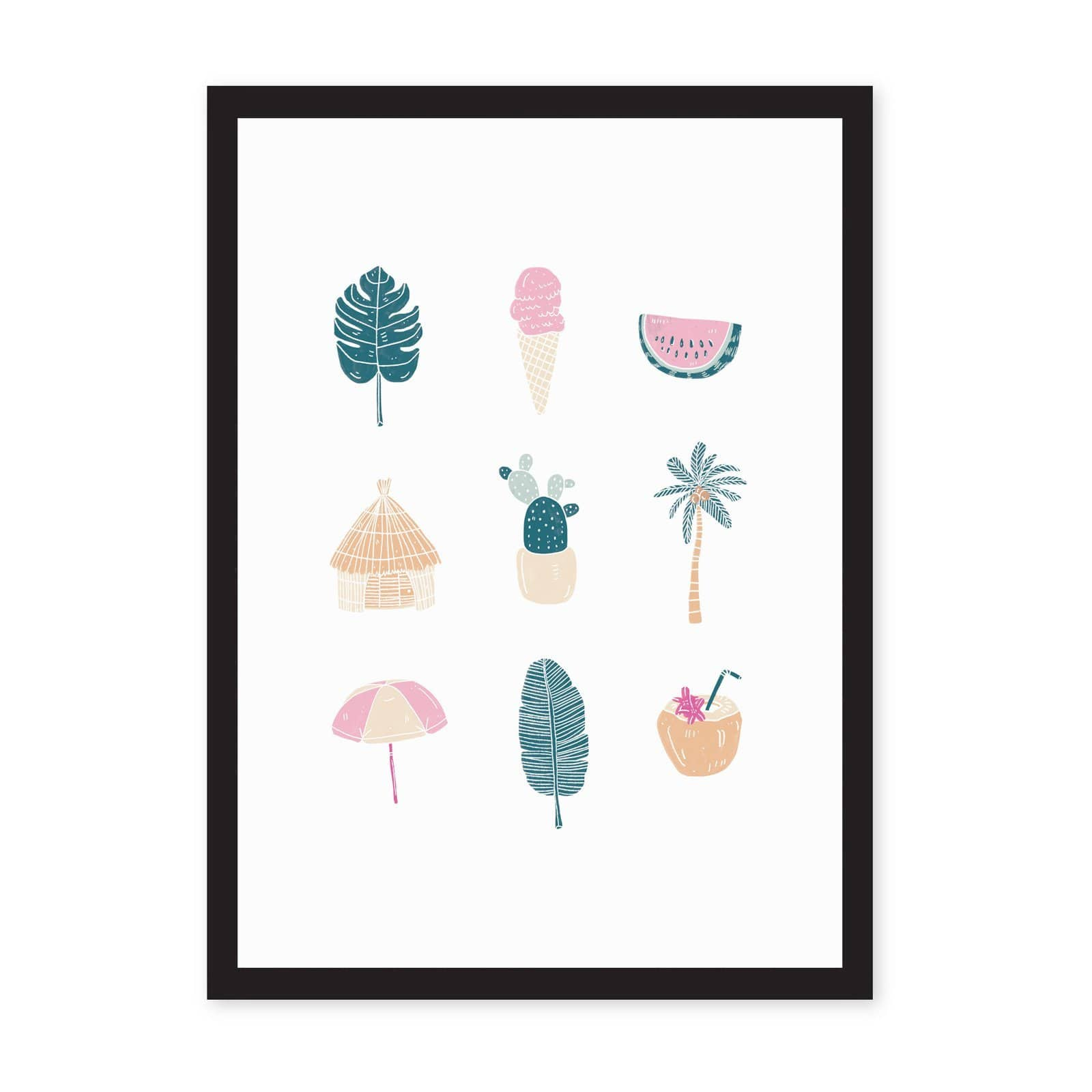 Ohh Deer x Marzia A4 Fun In The Sun Art Print