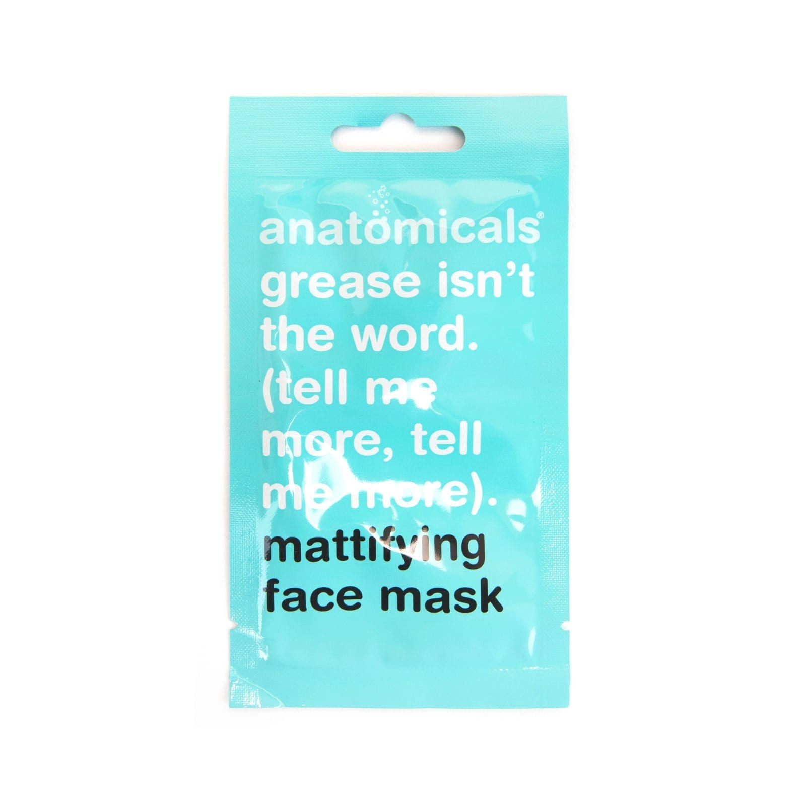 Grease Isn't The Word (Tell Me More, Tell Me More) Face Mask