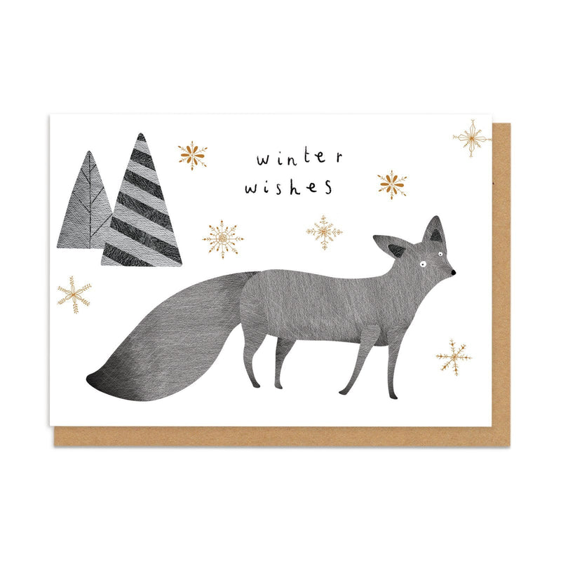Winter Wishes Fox Greeting Card