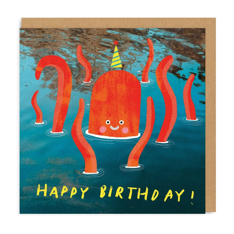 Octopus Square Greeting Card