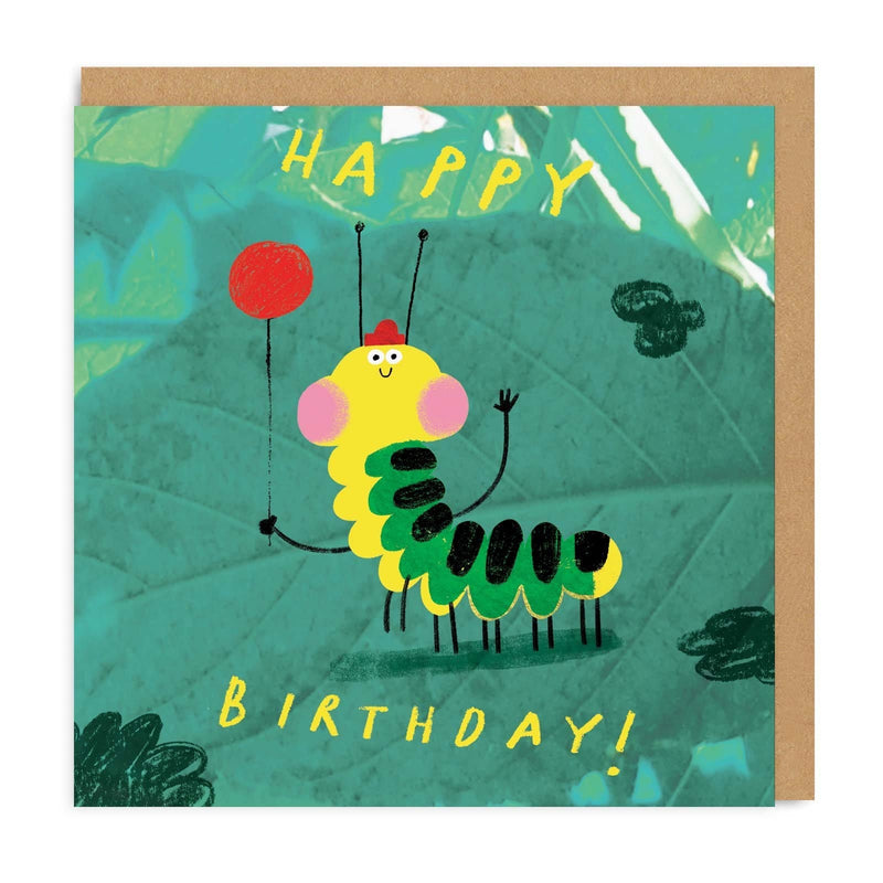 Caterpillar Square Greeting Card