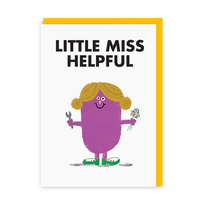 Little Miss Helpful Greeting Card