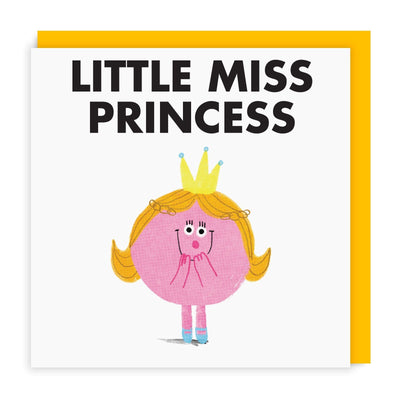 Little Miss Princess Square Greeting Card