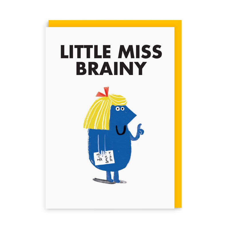 Little Miss Brainy Greeting Card