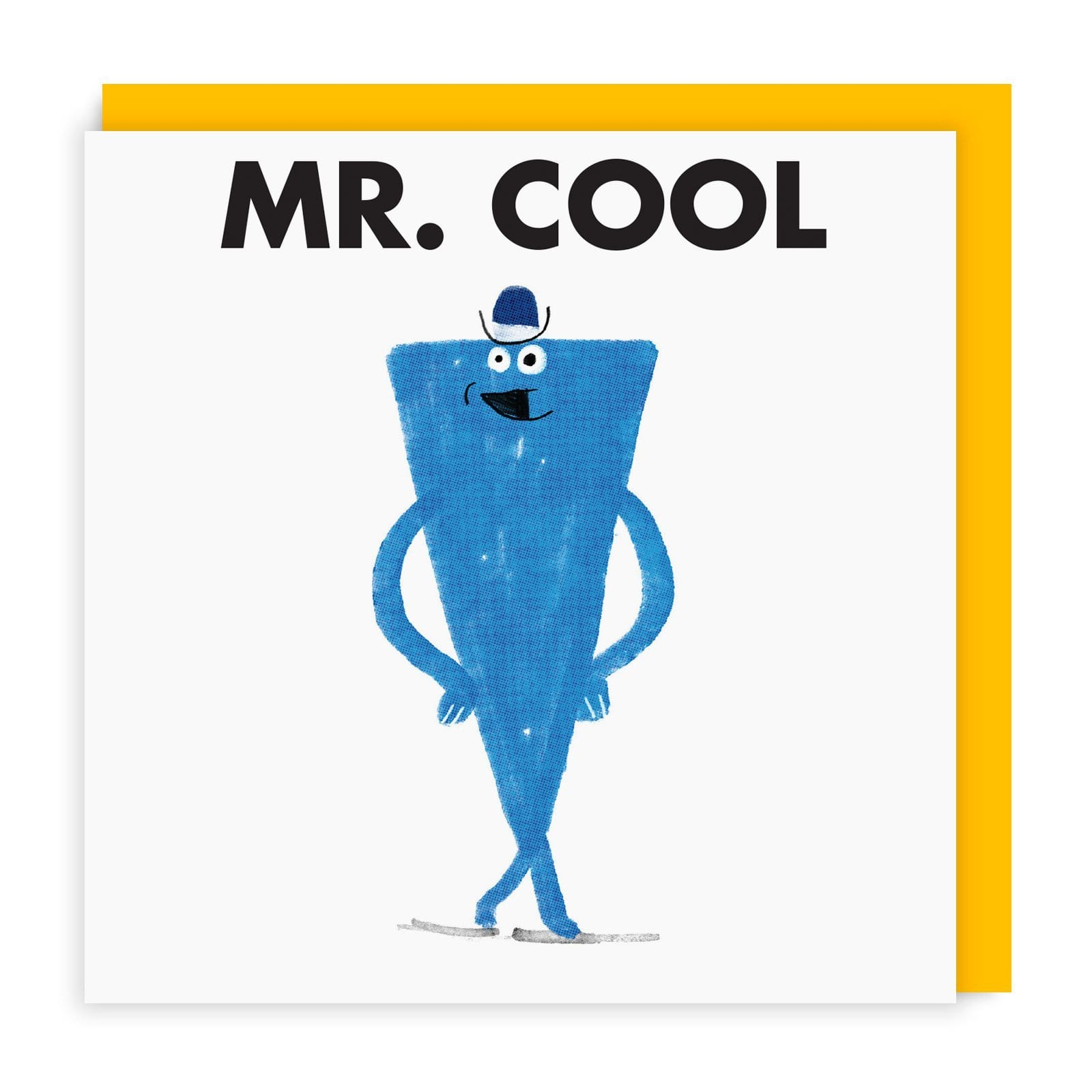 Mr Cool Square Greeting Card