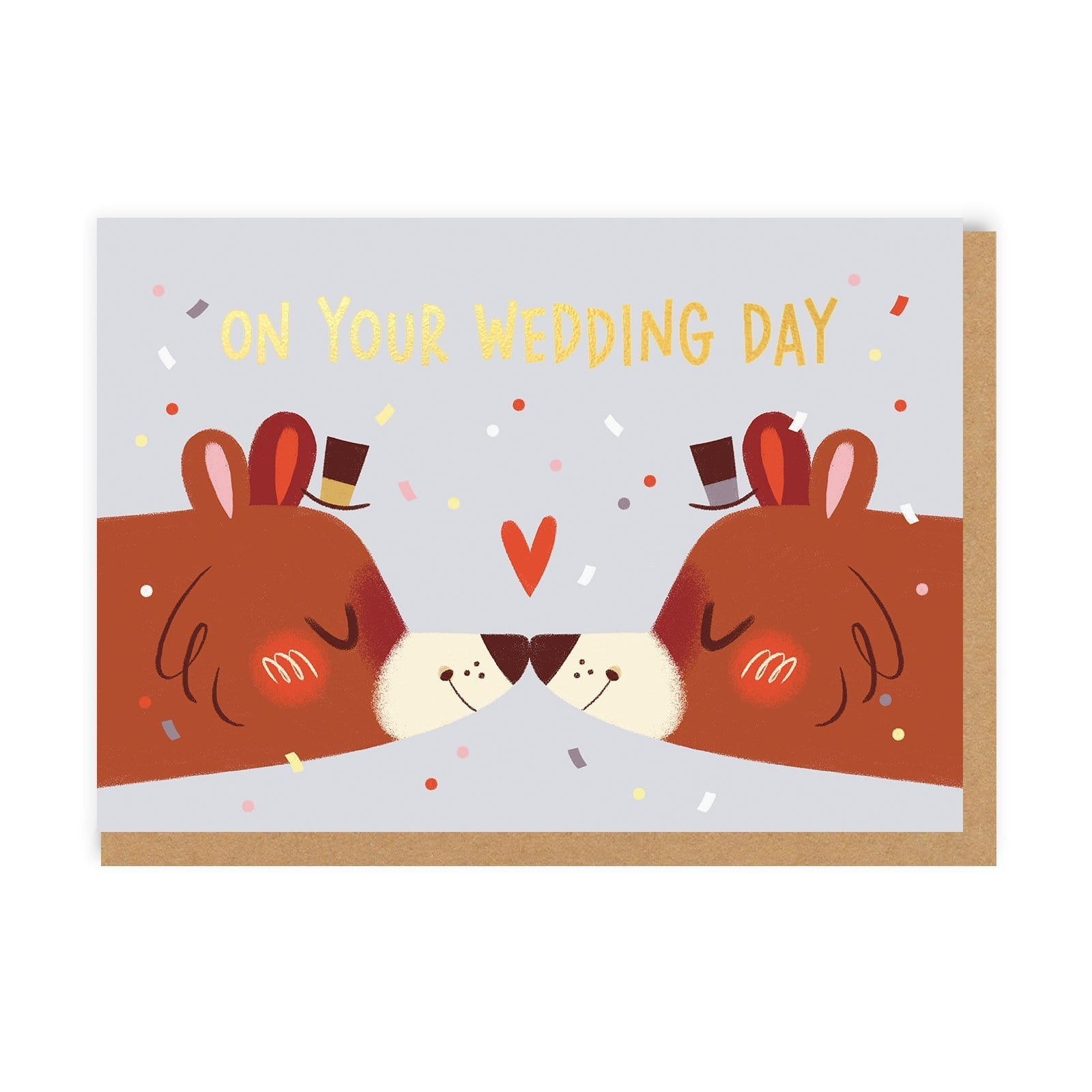 Gentlemen Wedding Bears Greeting Card
