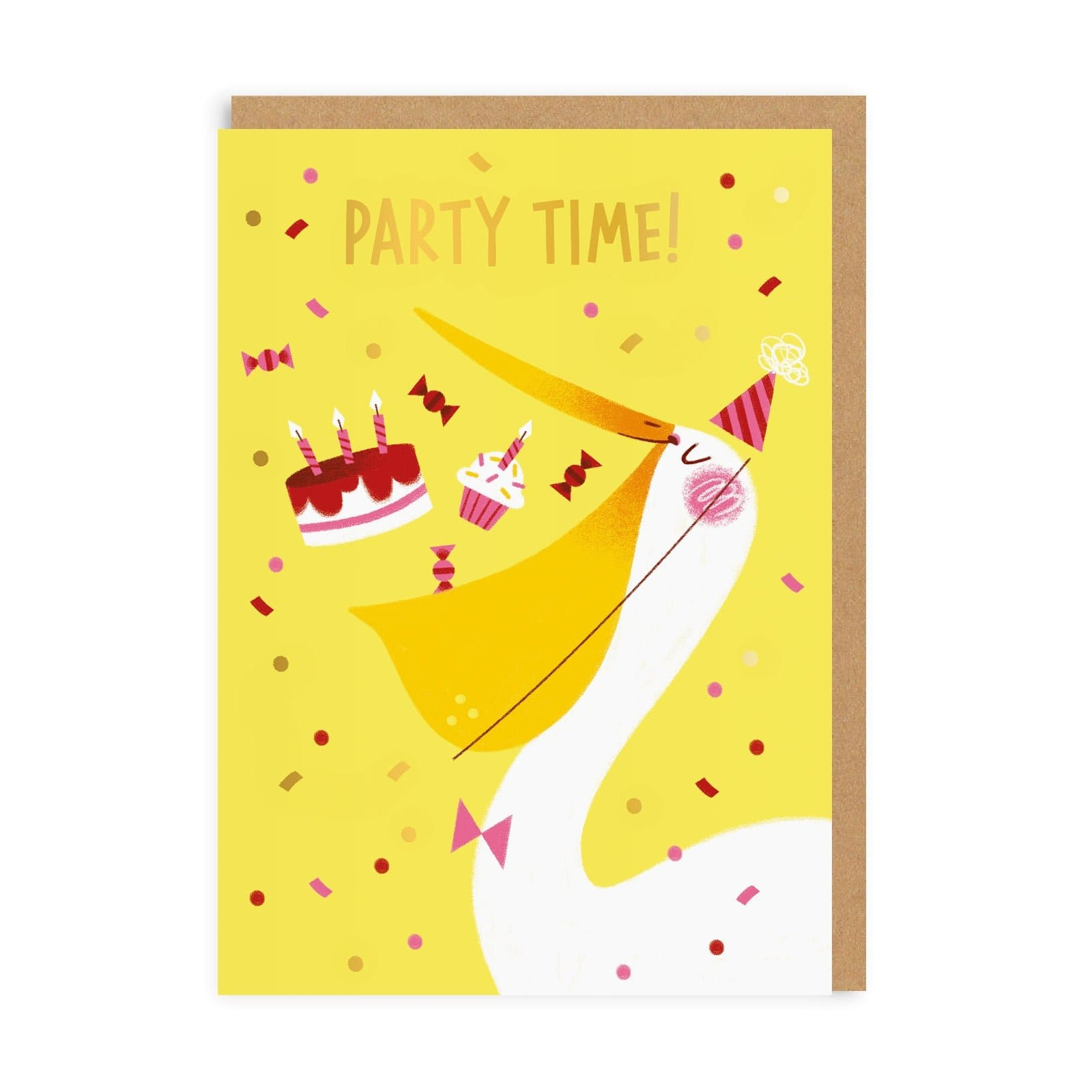 Pelican Party Time Greeting Card