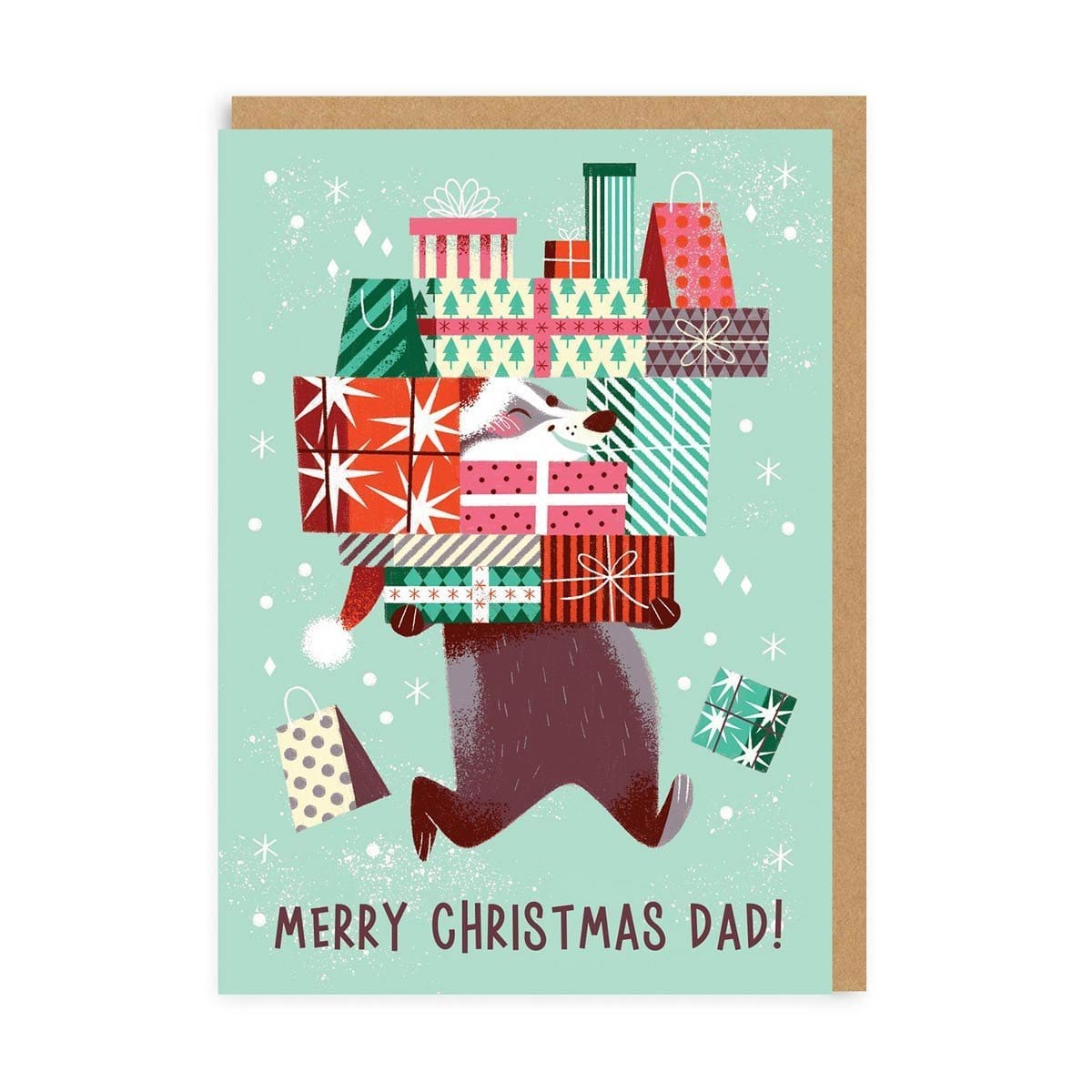 Dad Merry Christmas Greeting Card