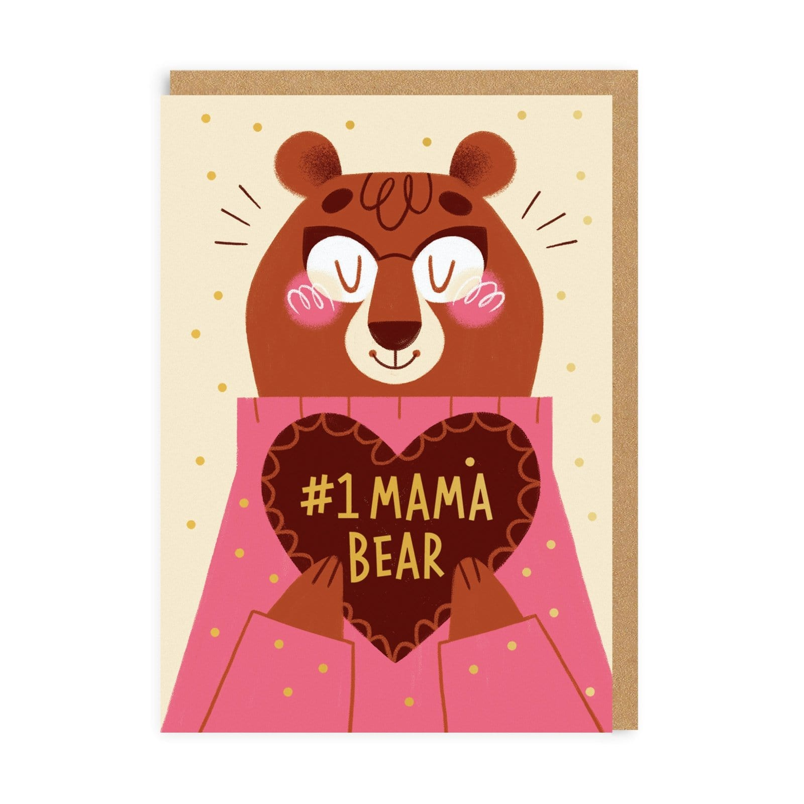 Mum Number 1 Mama Bear Greeting Card