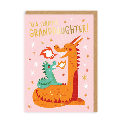 Granddaugther Dragon Greeting Card