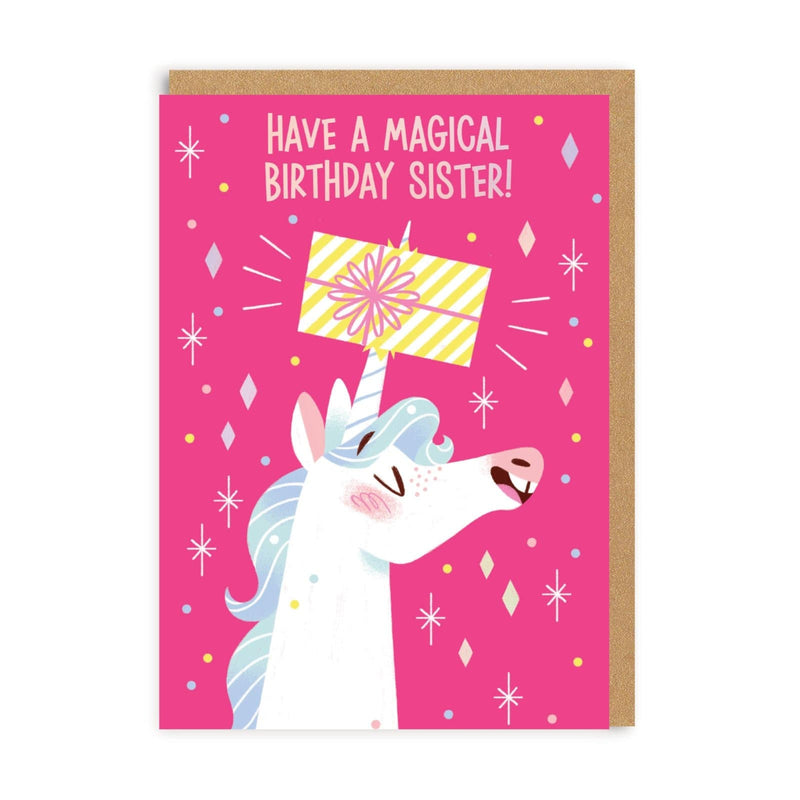 Unicorn Sister Greeting Card