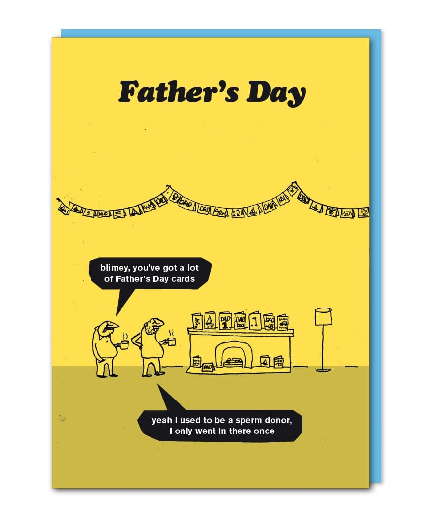 Sperm Donor Fathers Day Card
