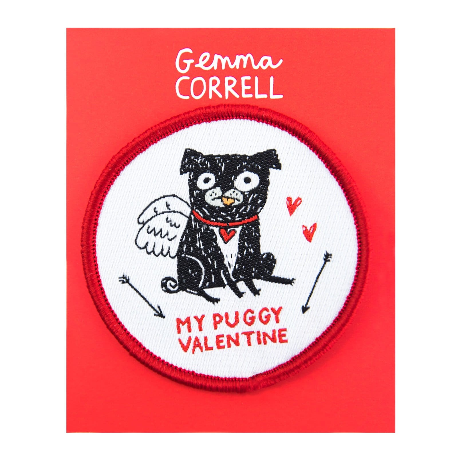 My Puggy Valentine Woven Patch