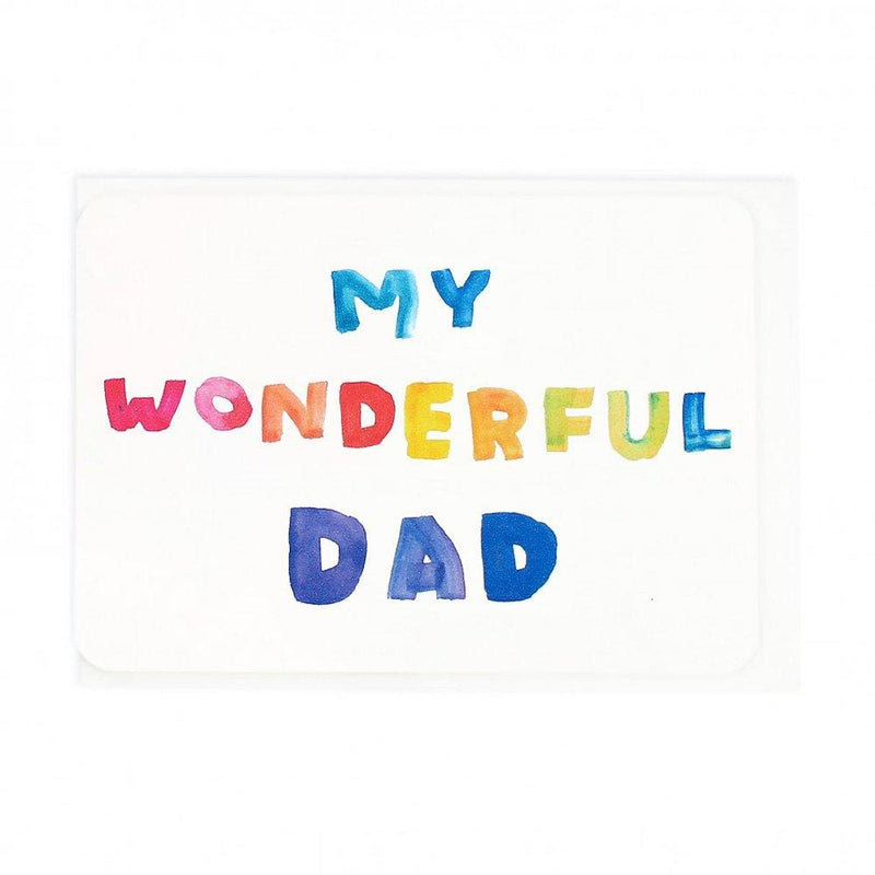 Painted Dad Letters Greeting Card