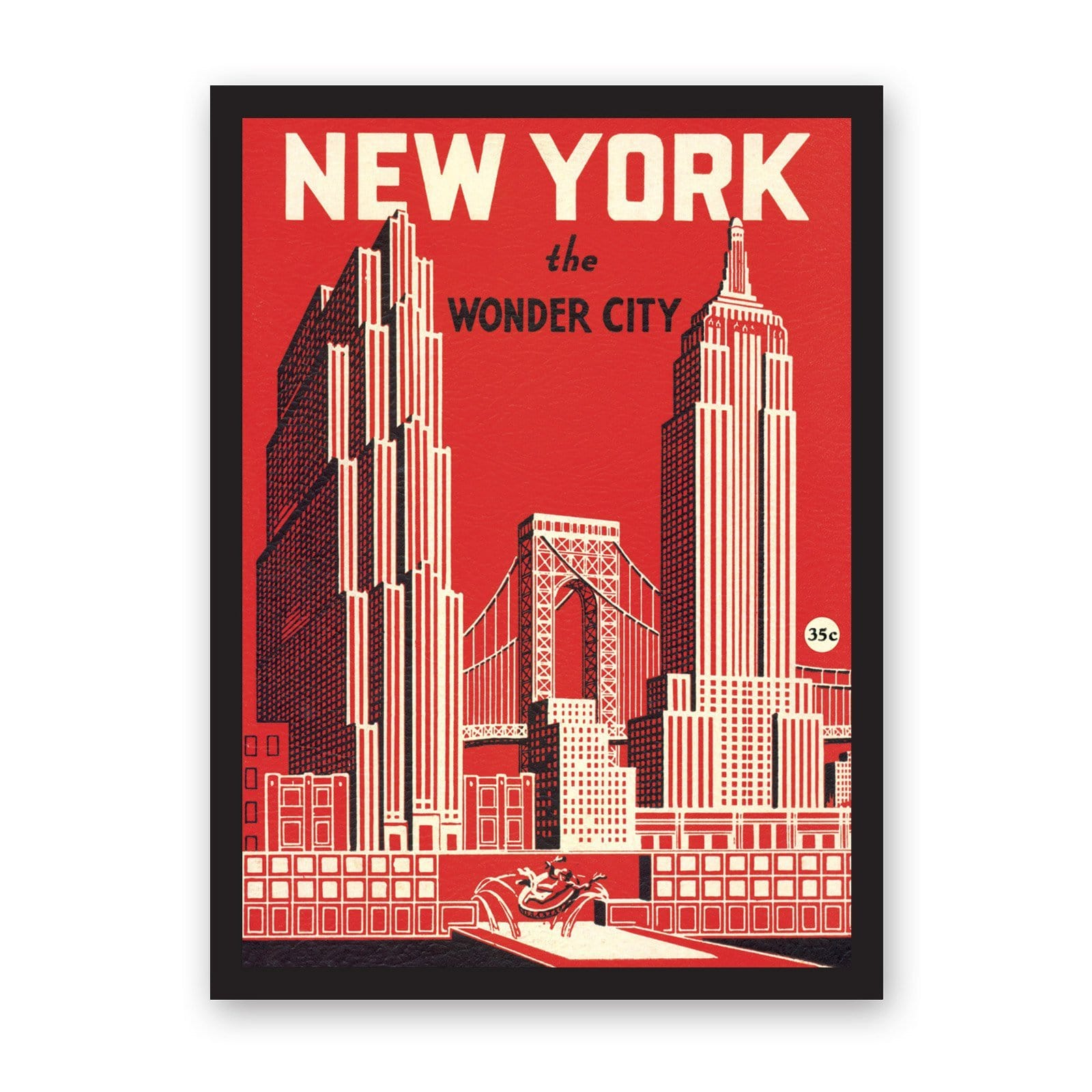 Large New York Wonder City Art Print