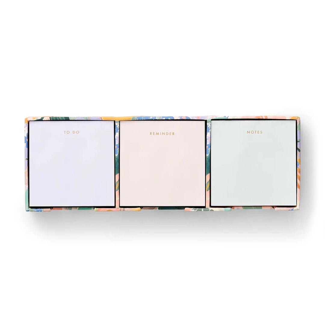 Luisa Floral Sticky Note Trio Set