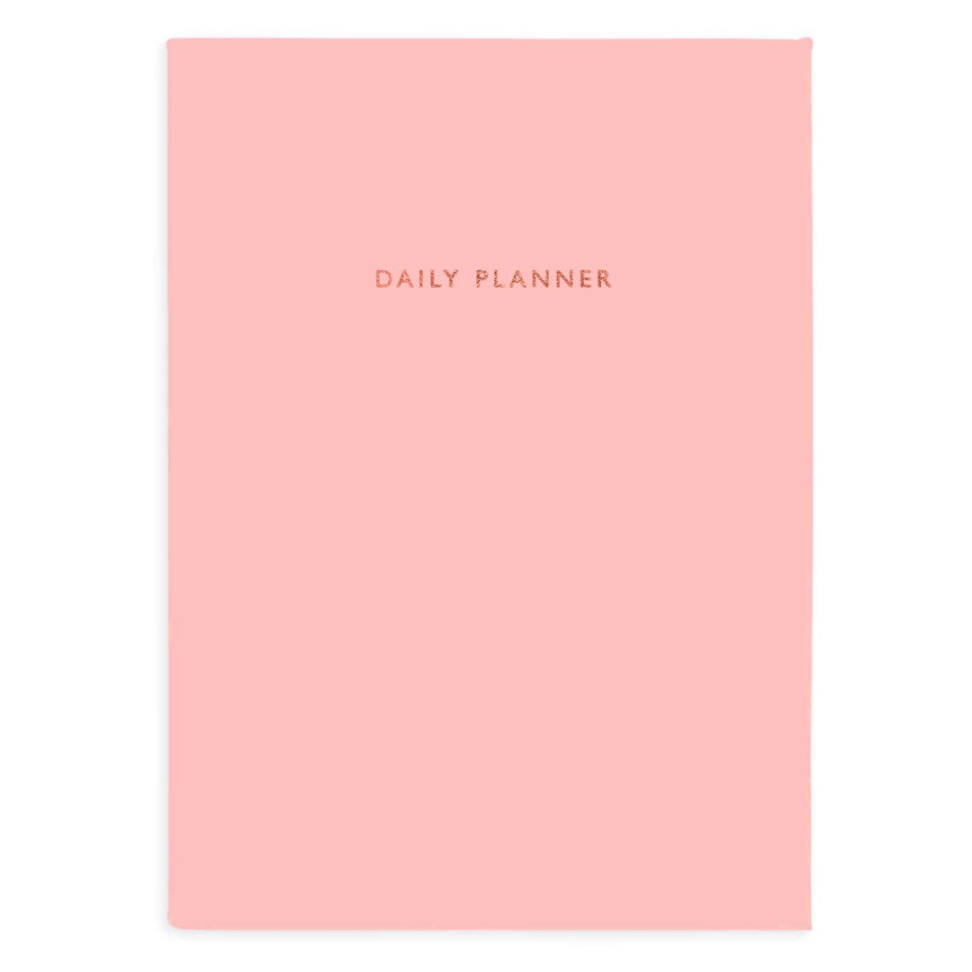 Baby Pink Linen Daily Planner