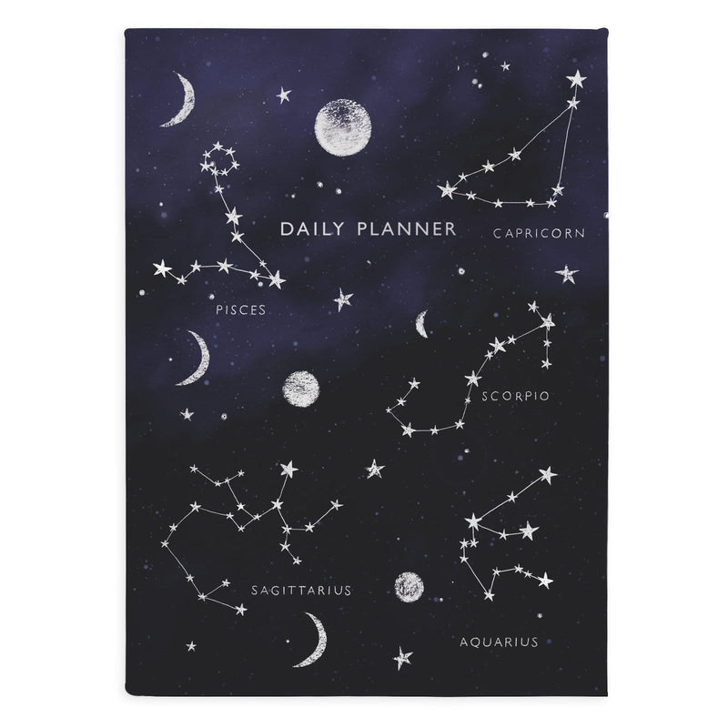 Zodiac Constellation Linen Daily Planner