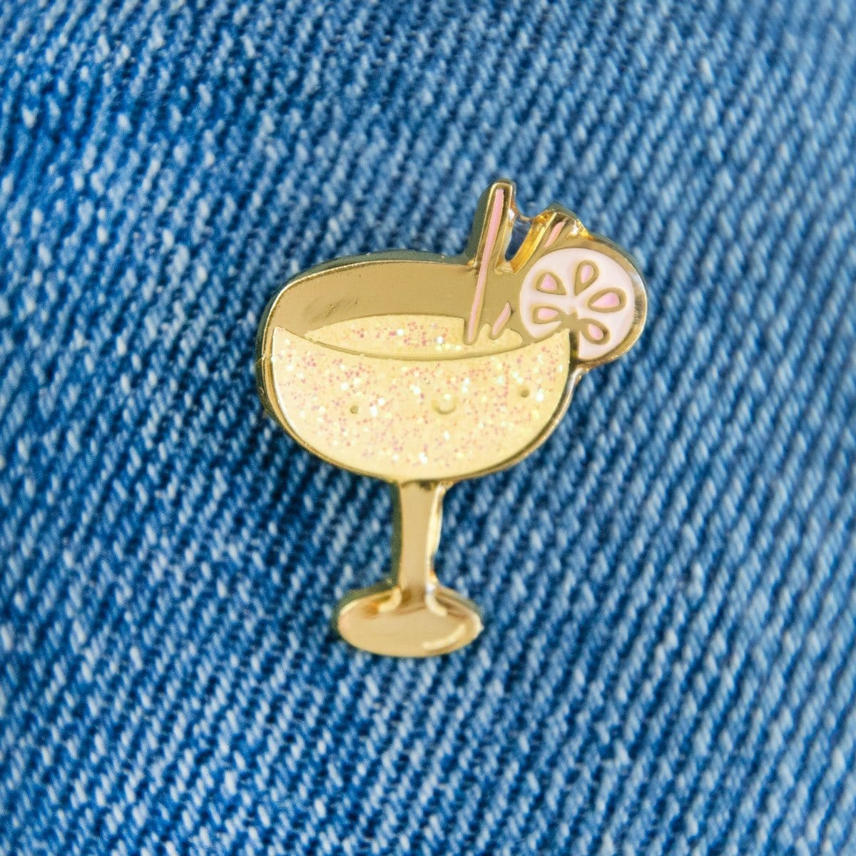 Cocktail Enamel Pin