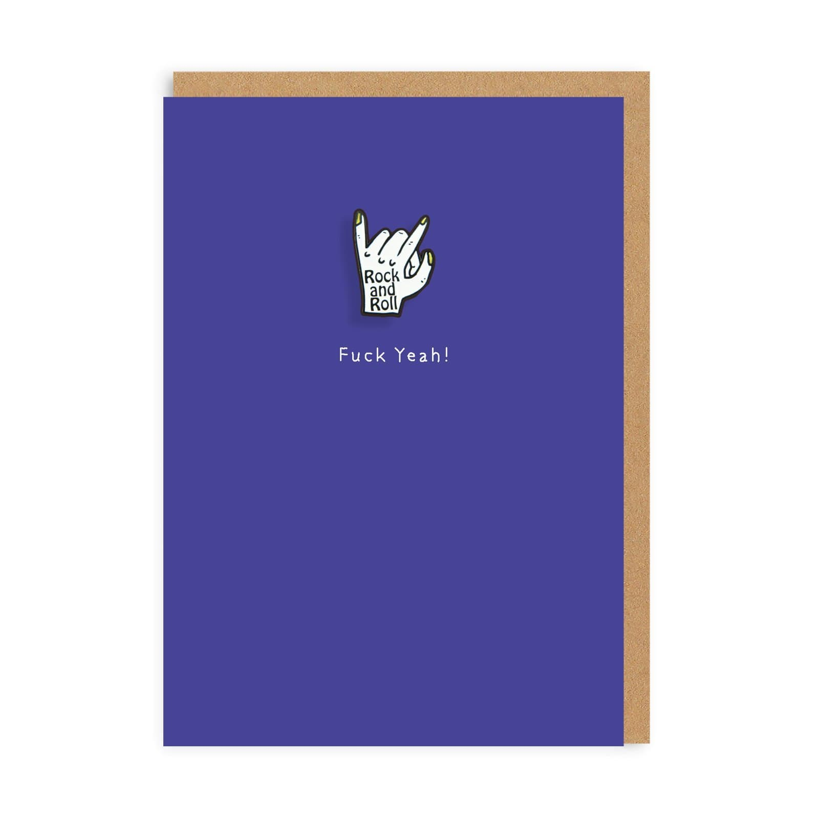 Rock and Roll Enamel Pin Greeting Card