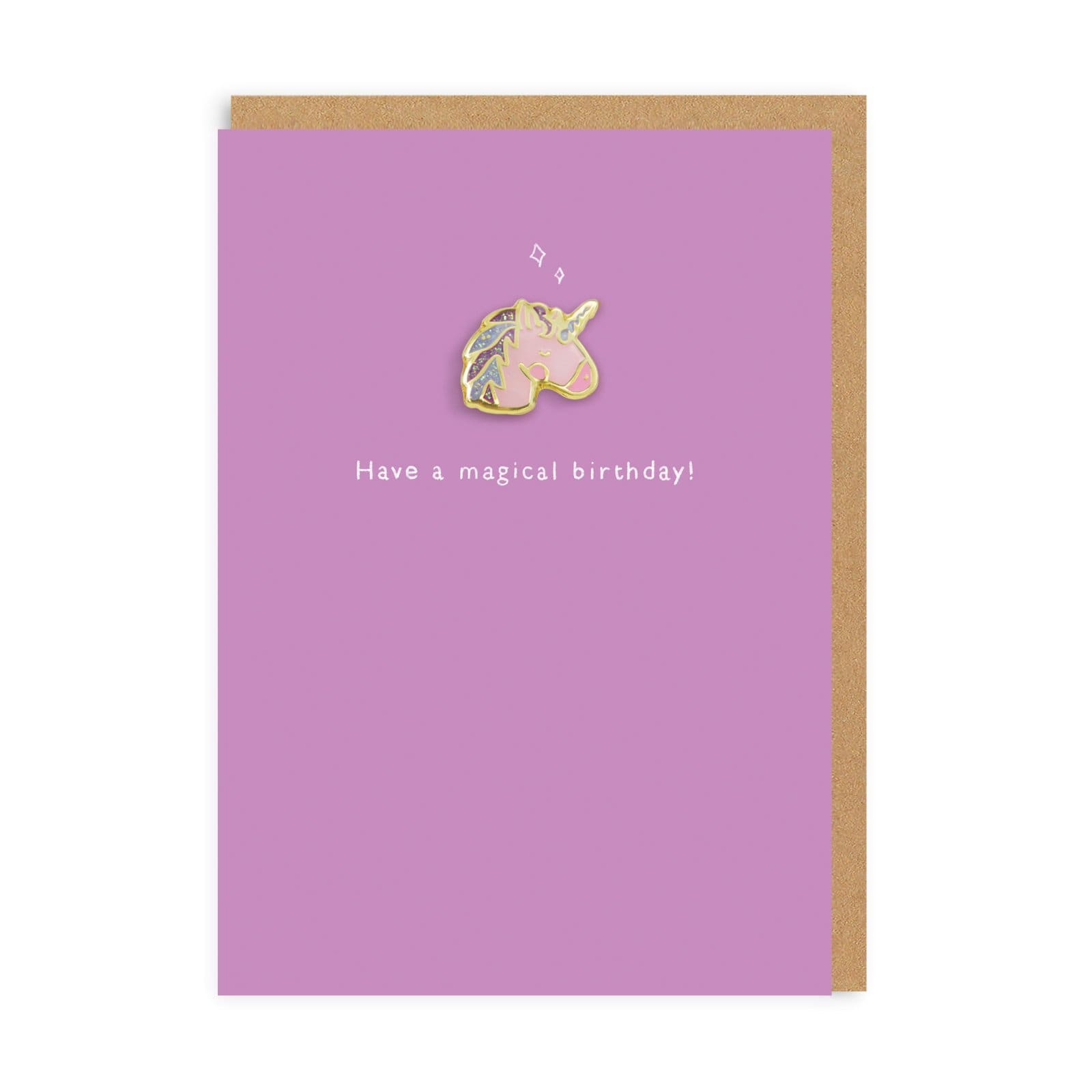 Unicorn Enamel Pin Greeting Card