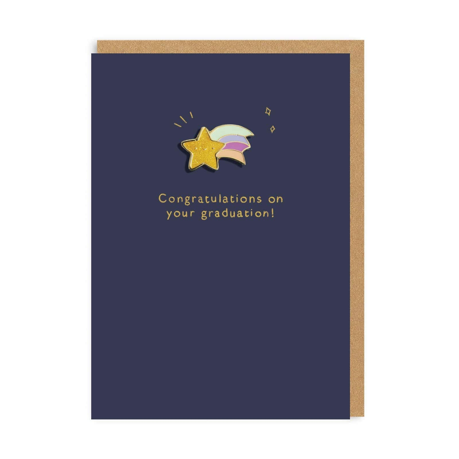 Shooting Star Enamel Pin Greeting Card